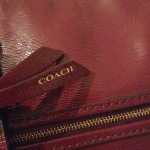 Gorgeous oxblood colored Coach purse.